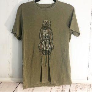 Lucky Brand Shirts - Lucky Brand • Grizzly Bear Hibernation Brew Tee